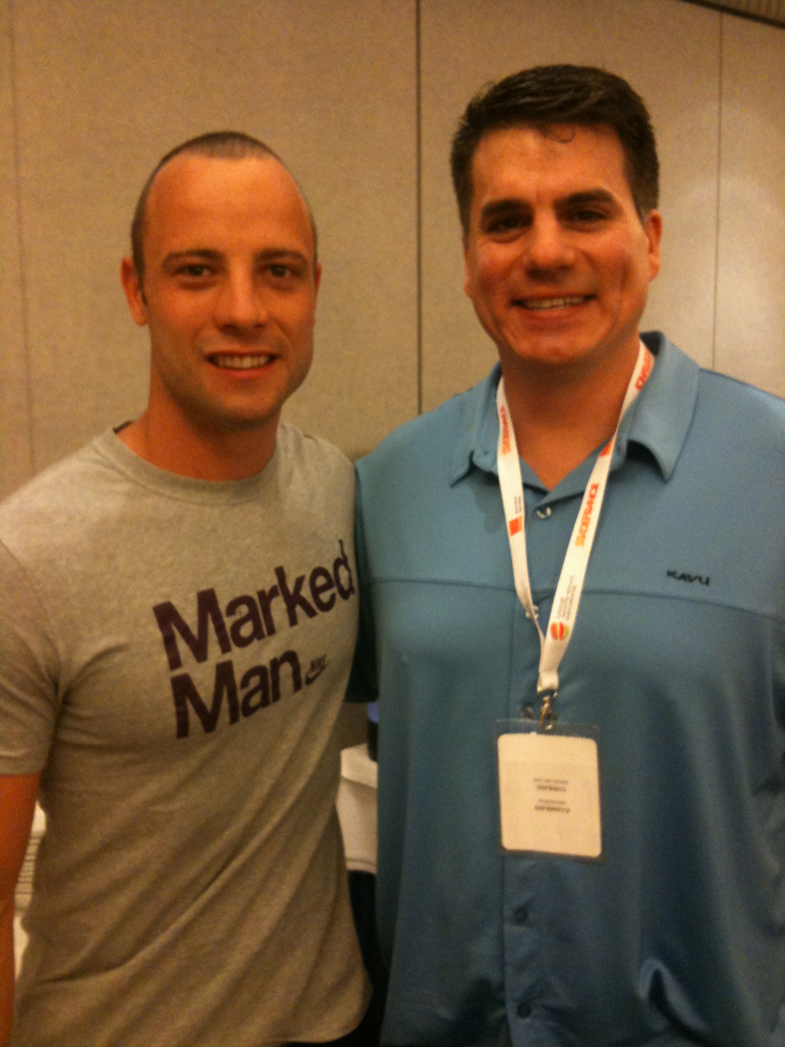 Oscar Pistorius at the 2012 Global Sports Forum Barcelona with THE Sports Techie