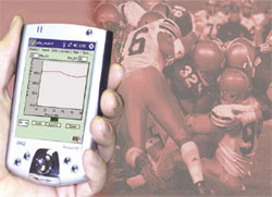 Thermometer pill use as a sports technology tool.