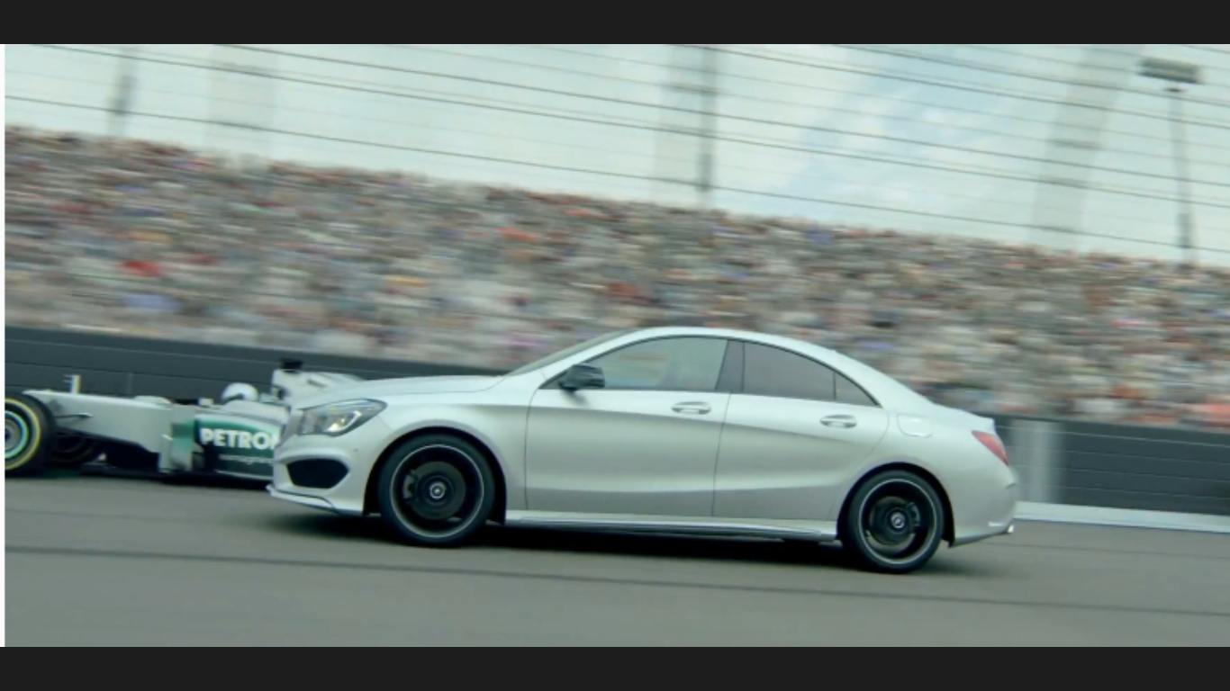 The all-new Mercedes Benz CLA Super Bowl commercial race track profile picture