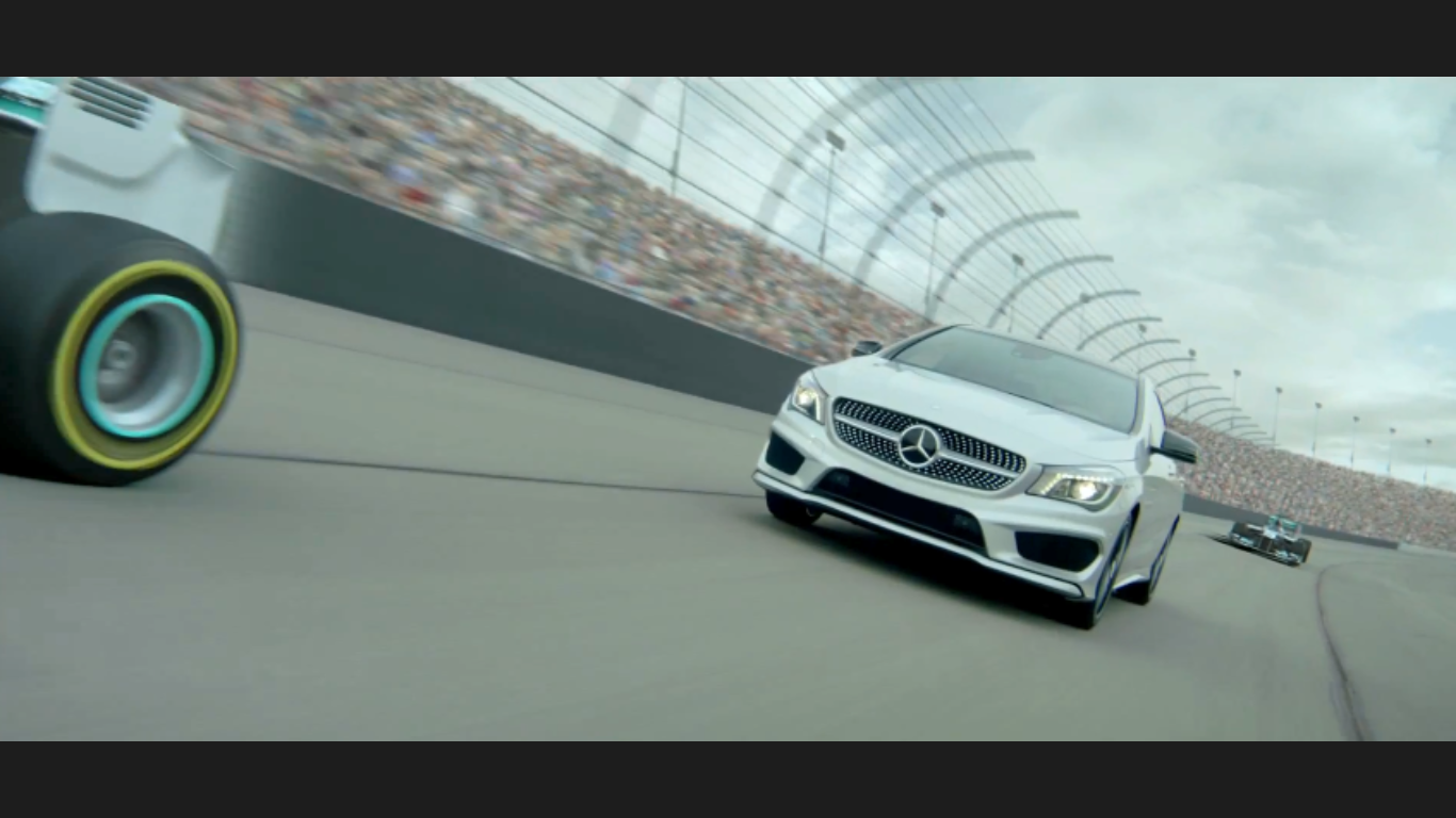 The All-New CLA has a 208-hp inline-4 engine for racing speeds