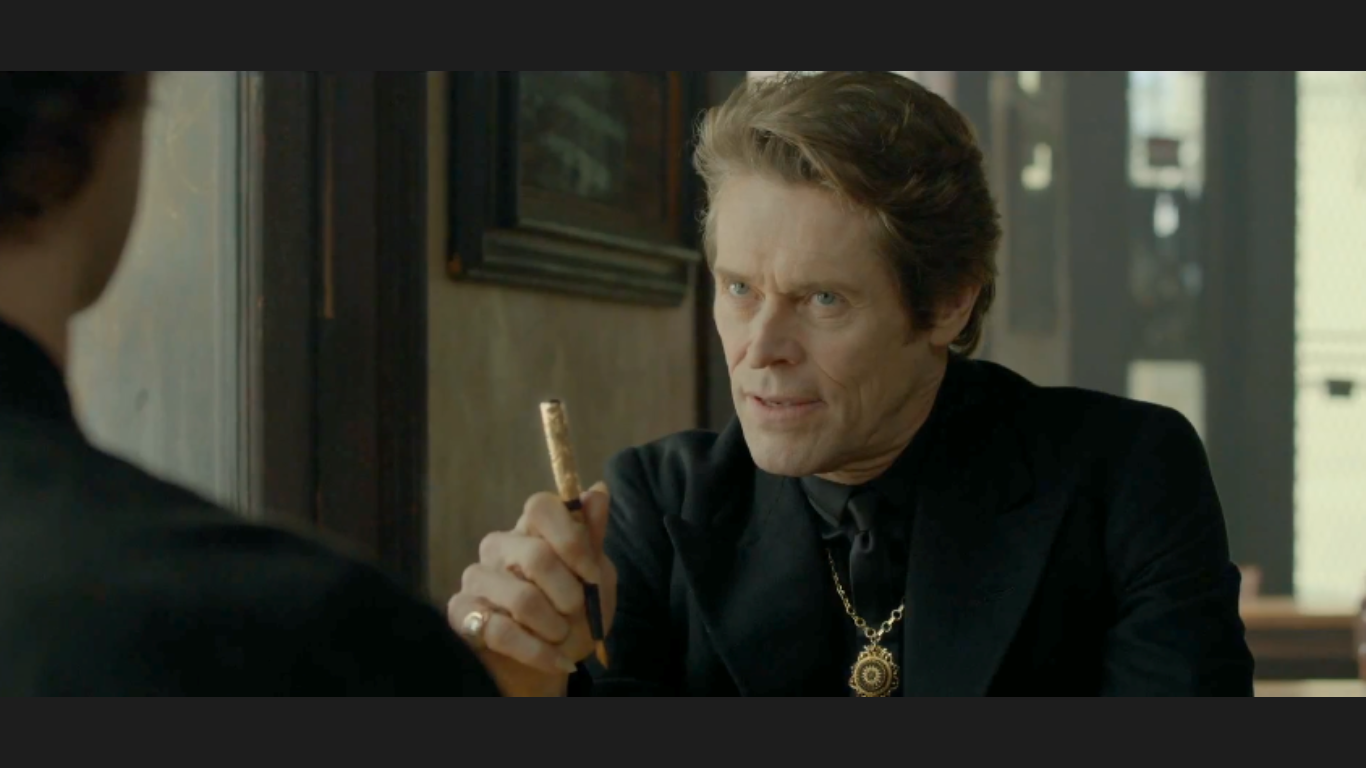 Actor William Dafoe is the Devil character in the Mercedes Benz CLA Super Bowl 47 commercial