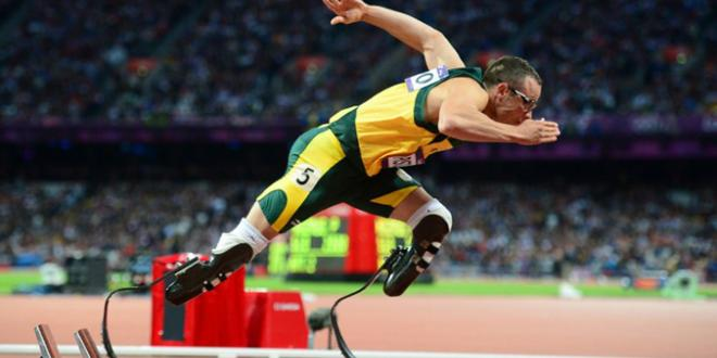 Oscar Pistorius is the first to run on prosthetic legs at the London Olympics