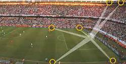 Hawk-Eye goal-line technology uses cameras