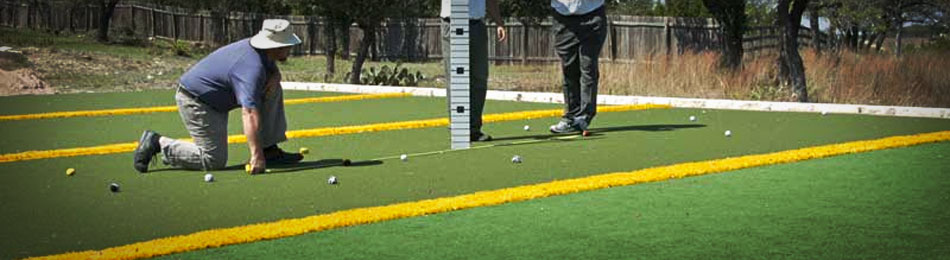 The new sports technology used to manufacture the course greens was co-developed by Dave and SYNLawn