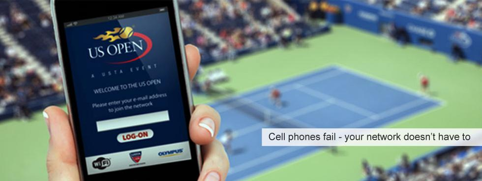 SignalShare Wi-Fi Case Study of U.S. Open tennis tournament.