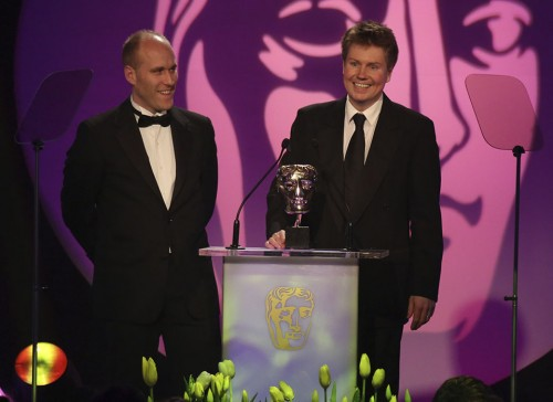 C4's James Rutherford and deltatre's Steve Boulton accept BAFTA award