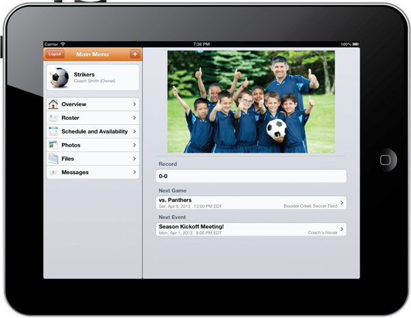 Parents and coaches alike are using TeamSnap for the iPad to adjust schedules, send emails and text messages to the team, pull up contact information for members of the team, and check on player availability.