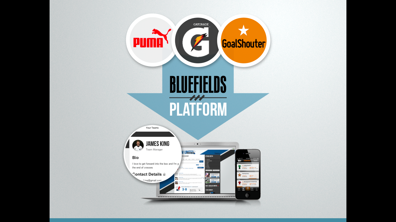 Bluefields is partnering with companies like Puma, Gatorade and Pepsi to create exclusive apps for the platform