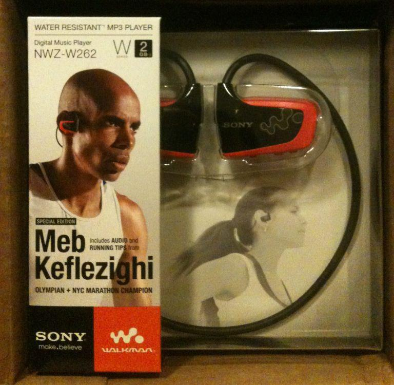 The Sony Fitness Walkman MP3 player is water resistant