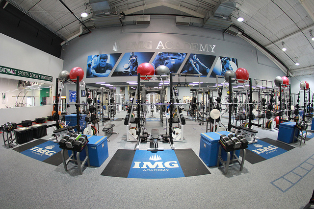 The IMG Academy 40,000 square foot Weight Room