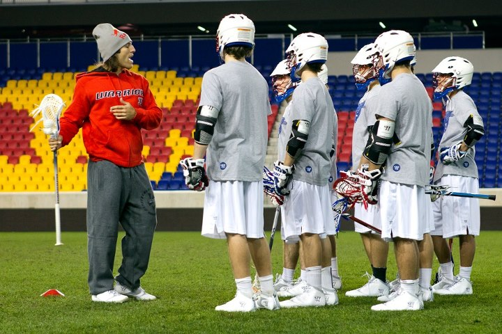 Lacrosse star and pioneer Paul Rabil is sponsored by Warrior while at Red Bull, The Academy