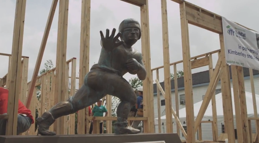 Nissan USA, Habitat for Humanity and NCAA college football greats are giving back in New Orleans area just like is happening in New Jersey as will happen in OKC.