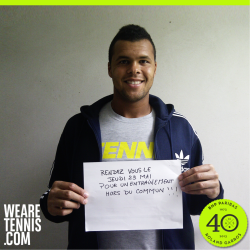 Jo-Wilfried Tsonga and WeAreTennis.com  marketing campaign created by social media agency We Are Social Paris for global banking and financial services firm BNP Paribas, celebrating the client's 40th anniversary of partnership with the French Open