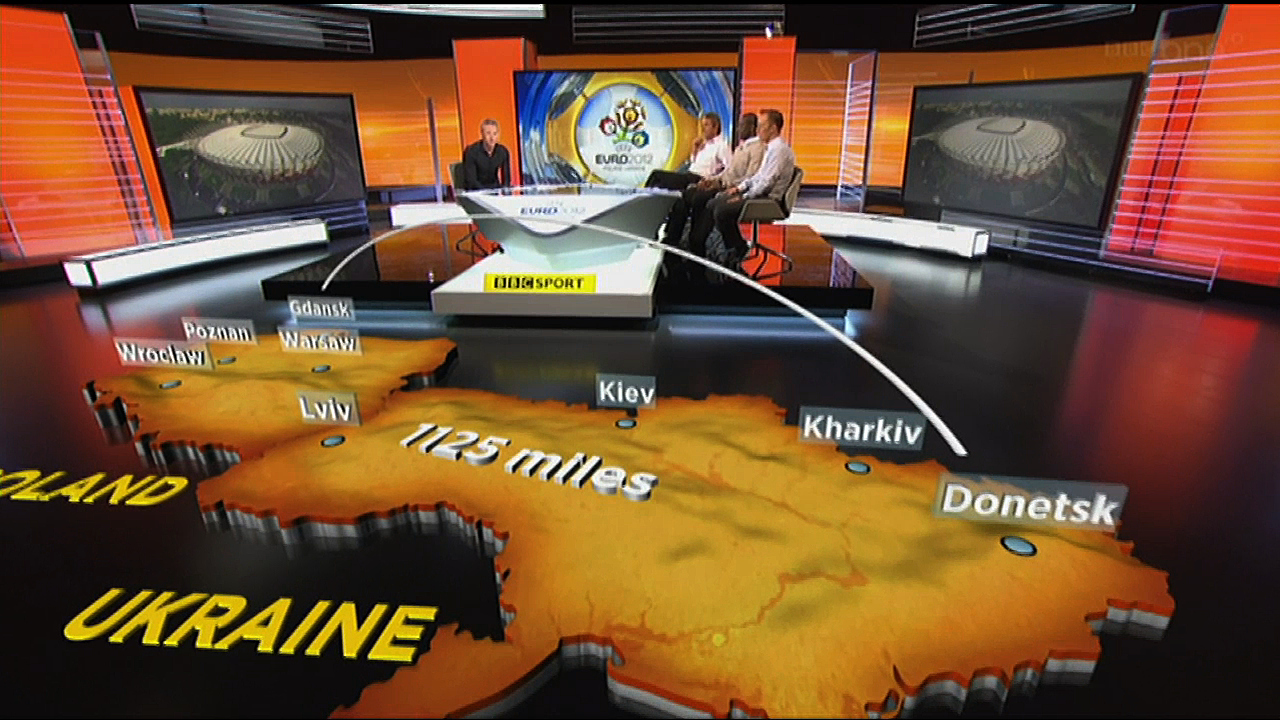 deltatre and BBC Euro 2012 Augmented Reality graphics