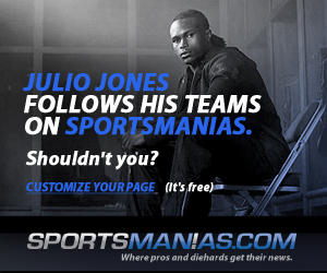 Julio Jones Follows His Teams on Sportsmanias. Shouldn't you?