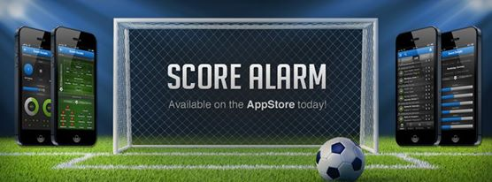 Score Alarm monitors the results and statistics from sports arenas around the world, for 19 different sports