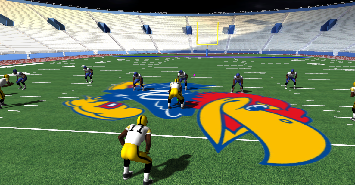 SIDEKIQ VR training software for football enables coaches to replicate game-like plays, scenarios, and situations.