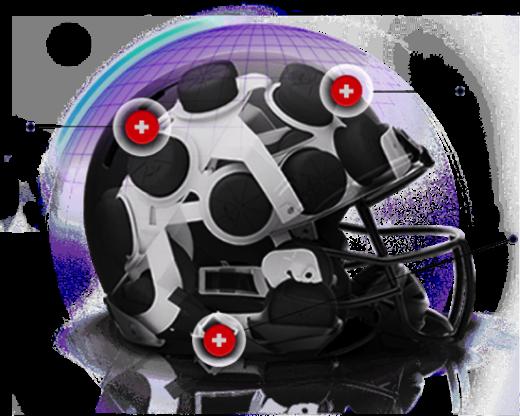 Xenith X2 Football Helmet Air Cell Shock Absorber Technology