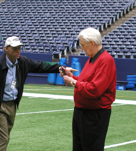 PAT SUMMERALL ENVISIONED LASER LINE FOR FIRST DOWNS