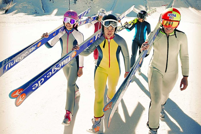 The New Women's Ski Jumping Team USA Got Chocolate Milk