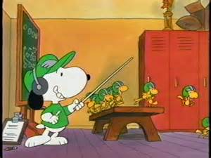 Snoopy and the Peanuts Gang love football