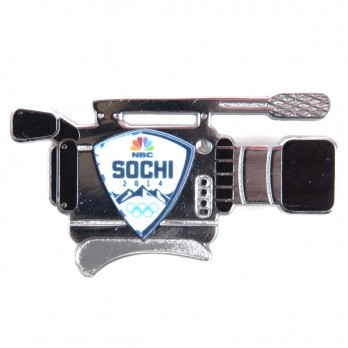 NBC Olympics Sochi 2014 Logo TV Camera Pin