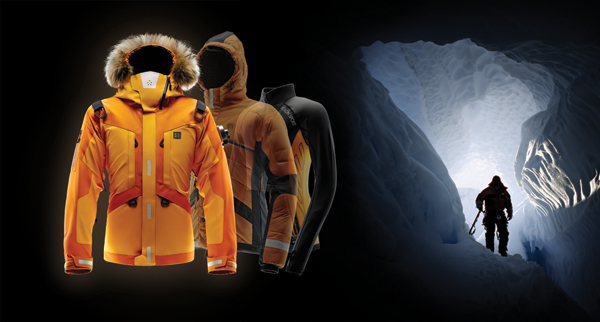 The Life Tech jacket's design and features are directly influenced by extensive research and interviews with extreme survival experts.