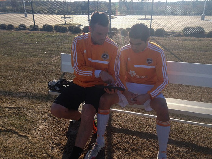 training analysis, visual communication and player stats aiding player learning pitch side