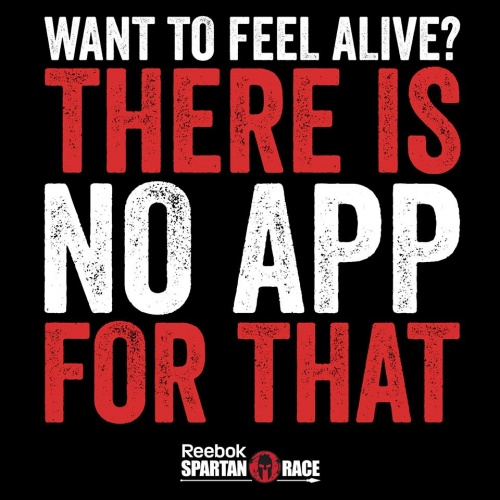 Want to feel alive, there is no app for that