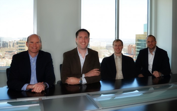 New CEO Clay Walker with BigTeams founders Matt Carson, Jeff Gilbert and Steve Sutherland.