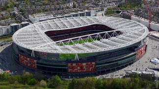 Emirates Stadium, home of Arsenal Football Club.