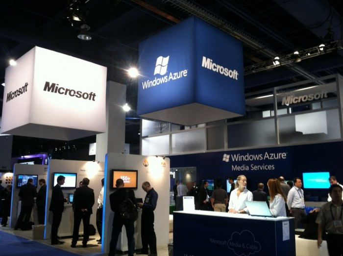 The NAB Show Microsoft Booth Showcasing Windows Azure