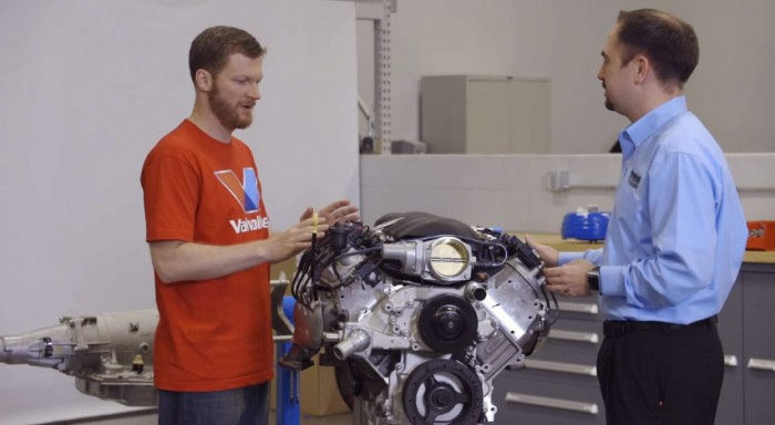 Valvoline Reinvention Project participant Dale Jr. discussing his 74' Chevy pickup specs