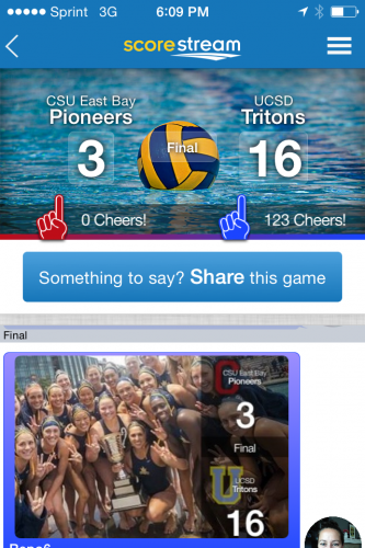 The UCSD women's waterpolo team marched on to the NCAA playoffs while using ScoreStream  to connect with their engaged community