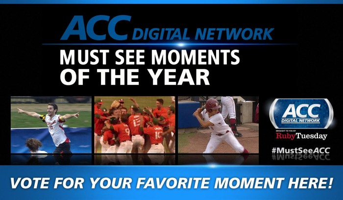 Fans voted on @theACCDN website to determine #MustSeeACC Winner