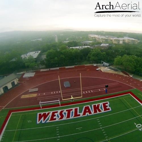 Arch Aerial High School Football Field Image