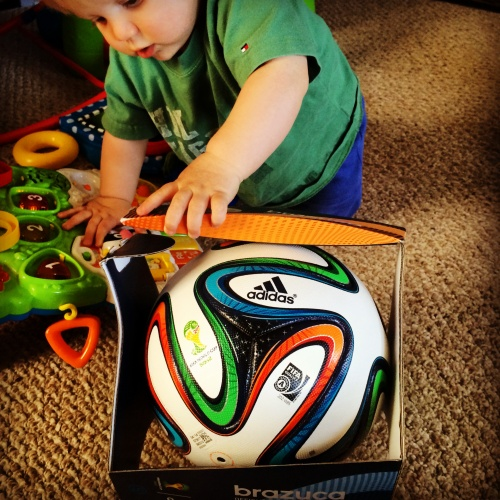 Nothing like unboxing your first adidas  Brazuca FIFA World Cup soccer ball.