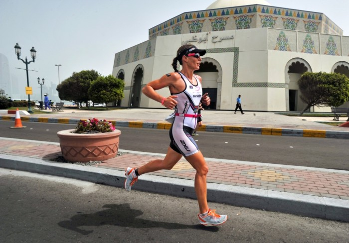 Caroline Steffen is a triathlon champion that wears On shoes when running