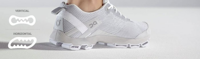 The secret behind the revolutionary On shoes is their CloudTec and its dual functionality: land soft as on sand yet push off hard as from the running track