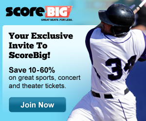 Sports Techie Community ScoreBig On Tickets For Sport, Concerts And Theater Events