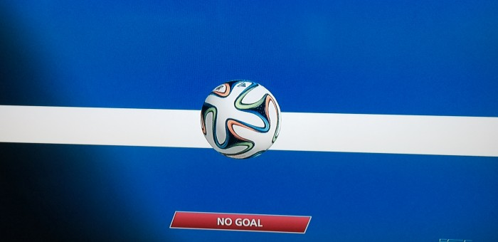 The FIFA 2014 World Cup official glt by GoalControl works as a soccer game-changer.