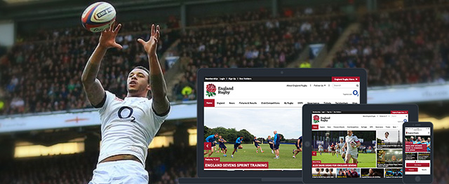 The Rugby Football Union (RFU) website has a new website that was designed by deltatre to enhance the fan experience for the England Rugby community in the UK and around the world