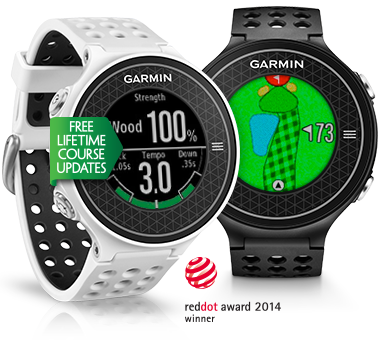 Garmin's slimmest, lightest GPS golf watch with first-of-its-kind swing metrics built in.