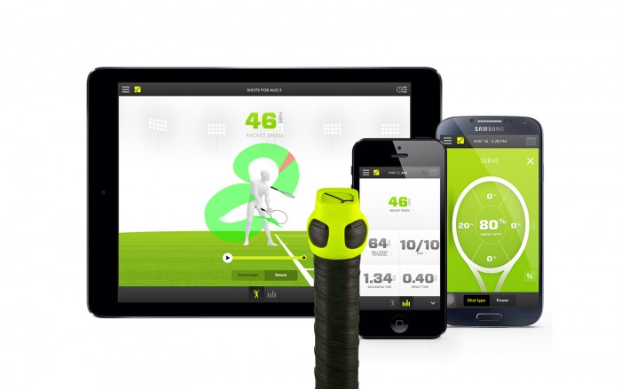 Zepp Labs wireless devices track a tennis player's stroke