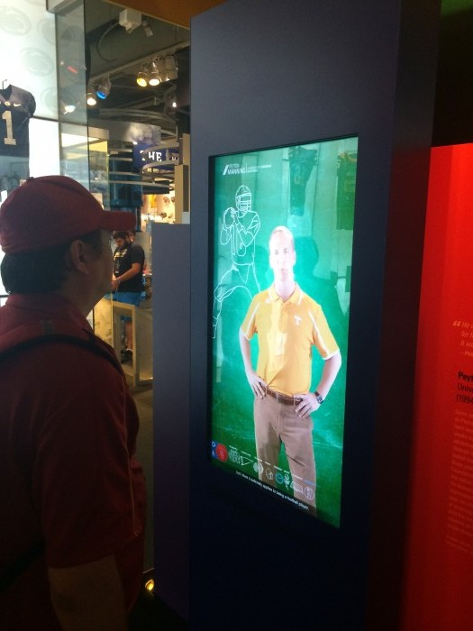Infographic: Ryan Lochte, Lebron James and Hope Solo demonstrates the importance of athletic endorsements to modern athletes, image via THESportsTechie at College Football Hall of Fame in Atlanta.