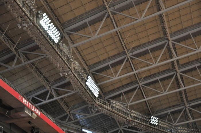 Amy Casper, CEO of Ephesus, shared the fact that the University of Phoenix Stadium is now the first NFL stadium to illuminate the playing surface exclusively with LED lighting.