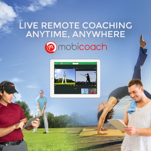 Mobicoach is touted as the first, mobile-to-mobile, cloud-based, real-time, intuitive, HD quality remote coaching service.