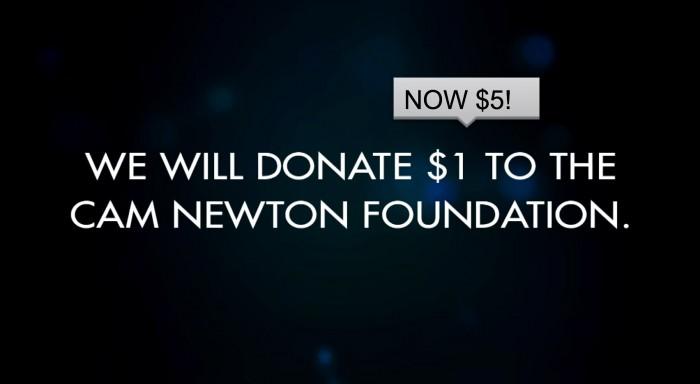 Drakkar Essence will donate $5 to the Cam Newton Foundation