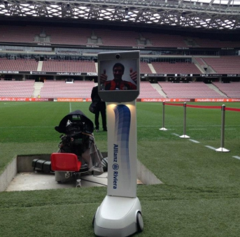 To maneuver and control the InsideBot robot, fans are required to like the Allianz Riviera Facebook page and take part in their upcoming sweepstake