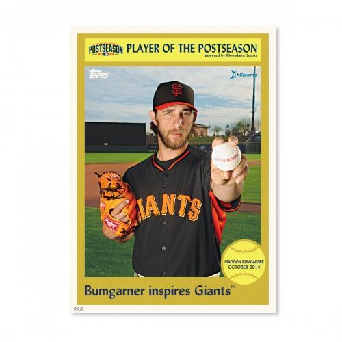 MLB Postseason Player Of The Day Topps Wall Art Featured SFG World Series MVP Madison Bumgarner - Sports Techie blog.